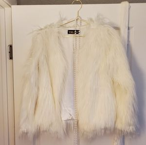 White Faux Fur jacket